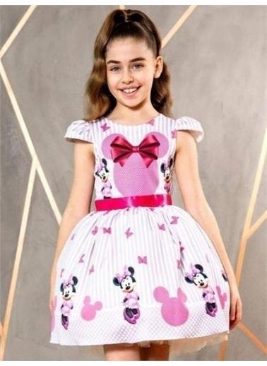 Riccotarz Kız Çocuk Party Minnie Pink Elbise Renkli